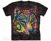 NeuheitenThe Mountain Shirt Happy Wolf EINZELSTÜCK