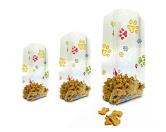 Geschenk-VerpackungenFolien Beutel: Hunde Pfoten bunt -Mittel- 10cm X 24cm - 10erpack