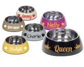 Wasser- & Futternäpfe für Hunde & KatzenMelamin Napf -NOBLY- mit Namen