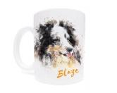 Für MenschenHunde Motiv Handtuch -watercolour-Tasse Hunderasse: Shetland Sheepdog