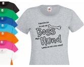 Für TiereHundenapf & KatzennapfHundespruch Damen T-Shirt: Boss - Einzelstück - 2