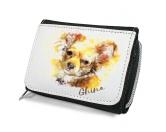 AusstellungszubehörHunderassen Ringclips vergoldetHunde Portrait Geldbörse - Chihuahua