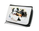 Für MenschenHunde Motiv Handtuch -watercolour-Hunde Portrait Geldbörse - Collie