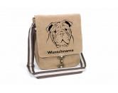 Bekleidung & AccessoiresHundesportwesten mit Hundemotiven inkl. Rückentasche MIL-TEC ®Englische Bulldogge Canvas Schultertasche Tasche mit Hundemotiv und Namen