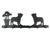 Aufkleber & TafelnFranzösische Bulldogge Leinengarderobe - Schlüsselbrett 6 Haken