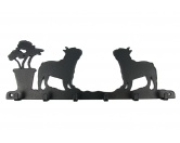 Fußmatten & LäuferFußmatten Hunderasse farbigFranzösische Bulldogge Leinengarderobe - Schlüsselbrett 6 Haken