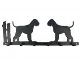 Bekleidung & AccessoiresHundesportwesten mit Hundemotiven inkl. Rückentasche MIL-TEC ®Riesenschnauzer Leinengarderobe - Schlüsselbrett 6 Haken
