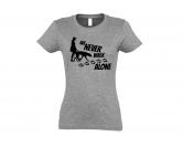 Für TiereHundemotiv - HandtücherHundespruch T-Shirt: Never walk alone 1
