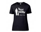 Für TiereKühlartikel für HundeHundespruch T-Shirt: Never walk alone 3