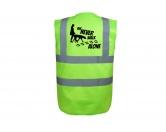 Bekleidung & AccessoiresWarnwesten & SicherheitswestenHundesport Warnweste Sicherheitsweste: Never walk alone 1
