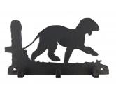 Bekleidung & AccessoiresHundesportwesten mit Hundemotiven inkl. Rückentasche MIL-TEC ®Bedlington Terrier Leinengarderobe - Schlüsselbrett