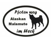 Aufkleber & TafelnAufkleber - On-LeinPfoten Weg - Aufkleber: Alaskan Malamute 2