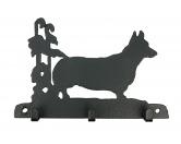 Bekleidung & AccessoiresHundesportwesten mit Hundemotiven inkl. Rückentasche MIL-TEC ®Welsh Corgi Pembroke Leinengarderobe - Schlüsselbrett