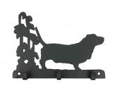 Bekleidung & AccessoiresHundesportwesten mit Hundemotiven inkl. Rückentasche MIL-TEC ®Basset Hound Leinengarderobe - Schlüsselbrett