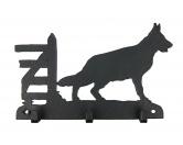 Bekleidung & AccessoiresSchals für TierfreundeDeutscher Schäferhund Leinengarderobe - Schlüsselbrett