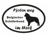 Tiermotiv Tassen3D Tassen HundePfoten Weg - Aufkleber: Belgischer Schäferhund - Groenendael 2