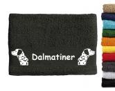 Für MenschenHunde Motiv Handtuch -watercolour-Handtuch: Dalmatiner