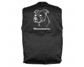 Bekleidung & AccessoiresHundesportwesten mit Hundemotiven inkl. Rückentasche MIL-TEC ®American Staffordshire Terrier unkupiert- Hundesportweste mit Rückentasche MIL-TEC ®