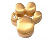Für TiereIntelligenzspielzeugEnergy and Life Magnetschmuck - Anhänger Pfote -Zirkonia- gold