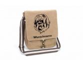 Warnwesten & SicherheitswestenWarnwesten mit Hunderasse MotivenSchafpudel Canvas Schultertasche Tasche mit Hundemotiv und Namen