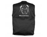 Fußmatten & LäuferFußmatten Hunderasse farbigEnglische Bulldogge - Hundesportweste mit Rückentasche MIL-TEC ®