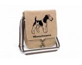T-ShirtsHunderassen T-ShirtsFoxterrier Drahthaar Canvas Schultertasche Tasche mit Hundemotiv und Namen