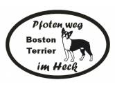 Aufkleber & TafelnAufkleber - On-LeinPfoten Weg - Aufkleber: Boston Terrier 4