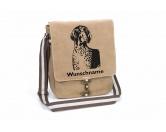 Aufkleber & TafelnHund Inside Auto AufkleberDeutsch Kurzhaar Canvas Schultertasche Tasche mit Hundemotiv und Namen