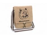 Bekleidung & AccessoiresOutdoor-Westen - mit DummytascheEurasier Canvas Schultertasche Tasche mit Hundemotiv und Namen