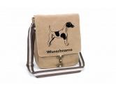 Socken mit TiermotivSocken mit HundemotivFoxterrier Kurzhaar Canvas Schultertasche Tasche mit Hundemotiv und Namen
