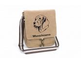 Bekleidung & AccessoiresHundesportwesten mit Hundemotiven inkl. Rückentasche MIL-TEC ®Weimaraner 2 Canvas Schultertasche Tasche mit Hundemotiv und Namen