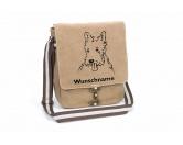 Bekleidung & AccessoiresHundesportwesten mit Hundemotiven inkl. Rückentasche MIL-TEC ®West Highland White Terrier Canvas Schultertasche Tasche mit Hundemotiv und Namen