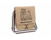 Taschen & RucksäckeGeldbörsen & HandytaschenYorkshire Terrier Canvas Schultertasche Tasche mit Hundemotiv und Namen