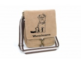 Für MenschenHunde Motiv Handtuch -watercolour-Yorkshire Terrier 2 Canvas Schultertasche Tasche mit Hundemotiv und Namen