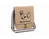 Bekleidung & AccessoiresHundesportwesten mit Hundemotiven inkl. Rückentasche MIL-TEC ®Welsh Corgi Pembroke Canvas Schultertasche Tasche mit Hundemotiv und Namen