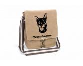 Bekleidung & AccessoiresHundesportwesten mit Hundemotiven inkl. Rückentasche MIL-TEC ®Zwergpinscher Canvas Schultertasche Tasche mit Hundemotiv und Namen