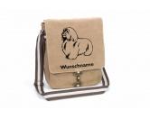 Für TiereHundemotiv - HandtücherCoton de Tulear Canvas Schultertasche Tasche mit Hundemotiv und Namen