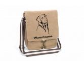Leben & WohnenTeelichthalterFlat Coated Retriever 1 Canvas Schultertasche Tasche mit Hundemotiv und Namen