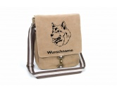 Schmuck & AccessoiresHunderassen-Broschen vergoldetAlaskan Malamute 2 Canvas Schultertasche Tasche mit Hundemotiv und Namen