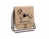 Garderoben & SchlüsselboardsLeinengarderoben 3 HakenBasset Hound 5 Canvas Schultertasche Tasche mit Hundemotiv und Namen