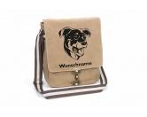 Taschen & RucksäckeCanvas Tasche HunderasseBeauceron 2 Canvas Schultertasche Tasche mit Hundemotiv und Namen