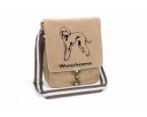 Bekleidung & AccessoiresHundesportwesten mit Hundemotiven inkl. Rückentasche MIL-TEC ®Bedlington Terrier Canvas Schultertasche Tasche mit Hundemotiv und Namen