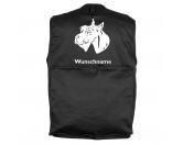 Aufkleber & TafelnHund Inside Auto AufkleberRiesenschnauzer - Hundesportweste mit Rückentasche MIL-TEC ®