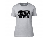 Tiermotiv TassenTassen HundesprücheHundespruch T-Shirt: I only need Coffee and my Dog Damen