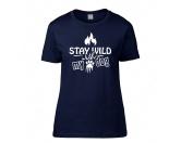 Schmuck & AccessoiresArmbänderHundespruch T-Shirt: Stay Wild Damen