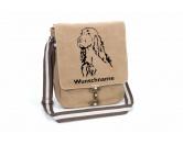 Socken mit TiermotivSocken mit HundemotivIrish Setter Canvas Schultertasche Tasche mit Hundemotiv und Namen