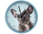 Küche & HaushaltServiettenWanduhr Hund: Französische Bulldogge