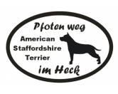 Taschen & RucksäckeCanvas Tasche HunderassePfoten Weg - Aufkleber: American Staffordshire Terrier