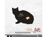 Aufkleber & TafelnAufkleber - On-LeinSelbstklebende Kreidetafel: Kurzhaar-Katze