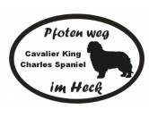 Schmuck & AccessoiresHunderassen-Broschen versilbert/vergoldetPfoten Weg - Aufkleber: Cavalier King Charles Spaniel